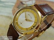 Vintage 1960and039s Hamilton Manual Wind Stunning Silver And Gold Dial Serviced
