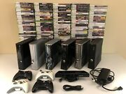 Matte Gloss Xbox 360 S System Bundle With 7 Random Games + Kinect