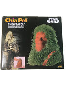 New In Box Chia Pet Pottery Chewbacca Star Wars Decorative Planter Tray And Seeds