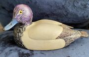 Vintage Signed William Bill Faix Wooden Curved Duck Decoy North East Md 1983