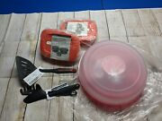 Tupperware Combo Serving Center And 2x Crystalwave 4-cup And Perfect Grilling Set