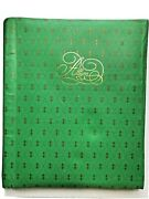 Vintage 1970s Empty Photo Album Emerald Green W/gold Lettering Ring Binder 24pgs