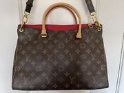 Authentic Louis Vuitton Monogram Canvas Pallas Bb Red Handbag Purse Sold Out