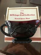 Vintage Avon 1876 Cape Cod Ruby Red Footed Sauce Gravy Boat Euc