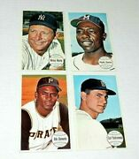 1964 Topps Baseball Mantle Clemente Aaron And Yaz Lot Of 4 Cards Nice Vintage Lot