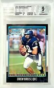 2001 Bowman Chrome 144 Drew Brees Rc Refractor /1999 Bgs 9 Top Sports Cards