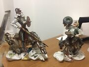 Pair Of Statue C Great Size Don Quixote Hot Cast Marble And Sancho Panz
