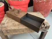 Antique Old Iron Hand Forged Library And Industrial Used Candle Stand With Box