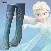 Queen Elsa Costume Snow And Ice 2 Princess Winter Boots Women Shoes Girls