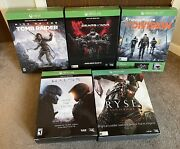 Xbox One Promo Big Box Display Tomb Raider, Halo, Ryse, Division, And Gears Of War