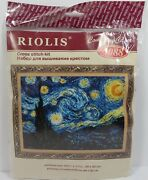 Riolis Starry Night After Van Gogh And039s Painting Cross Stitch Kit 1088