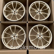 19 New Staggered Gold Style Forged Wheels Rims Fit Porsche 981 Cayman
