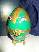 Faberge Imperial Egg Pansy Limoges Number 33 Pansy1899 With Coa