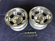 2 Polished Chevy 15x8 1/2 Nos Vintage American Racing Slot Mag Chevy 4 3/4