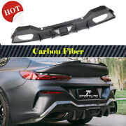 For Bmw 8series G16 M850i M-sport 18up Rear Bumper Diffuser Spoiler Dry Carbon