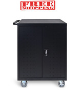 24-slot Charge Cart Charge Stores And Transports Up To 32 Laptops Or Chromebooks