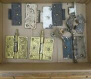 Antique And Victorian Cast Iron Door And Window Hinges Hardware Etc. Parts And Pieces