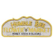 New Primitive Farmhouse Rustic Humble Honey Bee Flower Market Sign Wall Hanging
