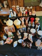 Vintage Lot Of 29 Salt And Pepper Shakers Pewter Crystal China Silver/6 Japan