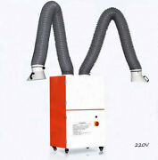 Techtongda Movable 220v Double Arm Welding Fume Extractor For Industrial Smoke
