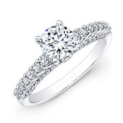 1.72 Ct Diamant Rond Mariage Anneaux 14k Blanc Solide Or Taille M N O P