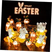 Easter Decoration Lights 9.84 Feet 30 Leds Easter Fairy String Bunny And Carrot