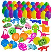 200 Filled Easter Eggs With Mini Toys And Figures - 2 Inch Egg For Easter