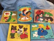 Wooden Puzzle Sifo There Was An Old Woman, Vintage And 4 Playskool Complete