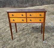 Eldred Wheeler Tiger Maple Cherry Side Board W 4 Drawers Straight Tapered Legs