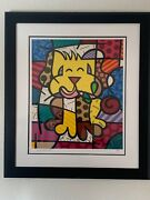 Romero Britto  Best Friend Serigraph Signed/numbered Framed Sold Out Series