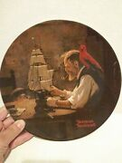 Knowles Plates - Decorative Plate - Norman Rockwell - The Ship Builder Used