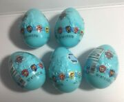 Lot Of 5 Paw Patrol Plastic Easter Eggs Filled With Candy 0.75 Ounce Ea. Large