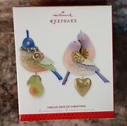 2011 Hallmark Partridge In A Pear Tree And 2012 Two Turtle Doves 2013 Reissue