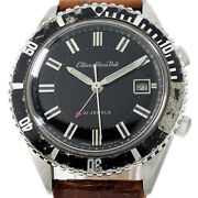 Vintage Citizen Alarm Parawater Date Very Rare Alds 52902-y Diver Style Watch