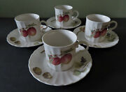 4 Mikasa Maxima Cajos Belle Terre Cup And Saucer Sets - Mint - 2 Sets Available