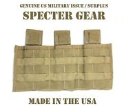 Specter Gear 283 Coyote Usmc Us Military Molle Triple Rifle Mag Pouch Shingle