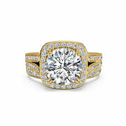 1.65 Ct Diamant Alliance Solide 14k Bague Or Jaune Rond Taille M N O P