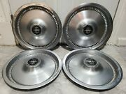Set Of 4 Vintage Oem 1975-81 Lincoln Continental Town Car 15 Hubcap Wheel Cover