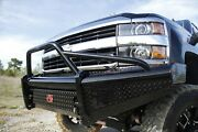 Fab Fours Ch14-s3062-1 Black Steel Front Ranch Bumper