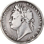 [906436] Coin, Great Britain, George Iv, Crown, 1821, London, Vf, Silver