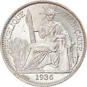 [905567] Coin, French Indo-china, 50 Cents, 1936, Paris, Ms, Silver, Km4a.2