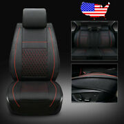 Us 5-seats Car Pu Leather Seat Covers For Volkswagen Golf Jetta Passat Black/red
