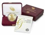 American Eagle 2021 - 21eb - One Ounce Gold Proof Coin In Hand Fast Shipping