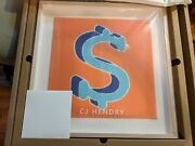 Cj Hendry Monies Dollarydoo Chenile Patch Dollar Sign Le 100 Signed And Framed