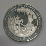 Franklin Mint History Of Us Sterling Silver Medal 1836 Texas Wins Independence