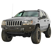Assembled Front Bumper With Led Lights Fit 1999-2004 Jeep Grand Cherokee Wj