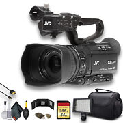Jvc Gy-hm250 Uhd 4k Streaming Camcorder W/ 64gb Memory Card Hdmi Cable Case L