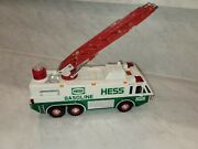 1996 Hess Emergency Fire Truck With Ladder Lights And Sounds