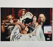 Rocky Horror Picture Show Cast 3 Signed 11x17 Photo Curry Nell Quinn Psa Coa