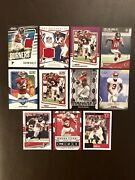 Calvin Ridley Card Lot W/13 Cards 6 Rookie Cards Purple Score 2 Jersey Cards